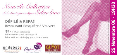 Défilé et repas - Nouvelle Collection de la boutique en ligne Eden-Love